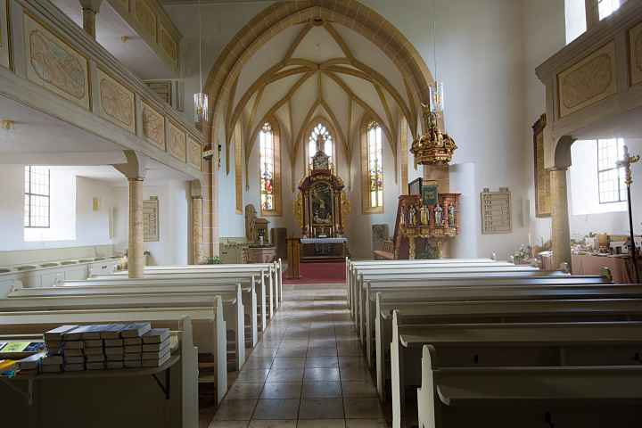 Kirche Kasendorf von innen