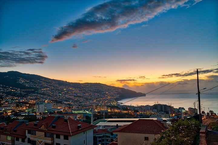 Morgendämmerung Funchal Madeira