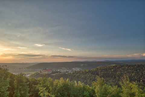 Plassenburg Kulmbach bei Sonnenuntergang
