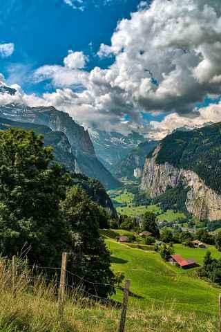 Blick ins Lauterbrunner Tal