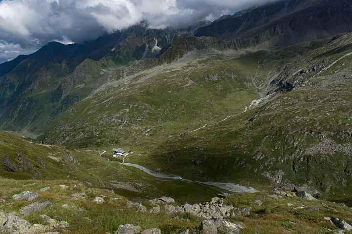Blick auf die Franz Senn Hütte