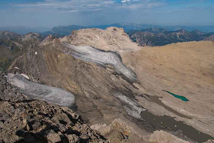 Blick von der Schesaplana über die Reste des Brandner Gletschers