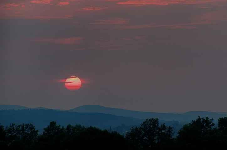 Sonnenuntergang bei Forstlahm nahe Kulmbach