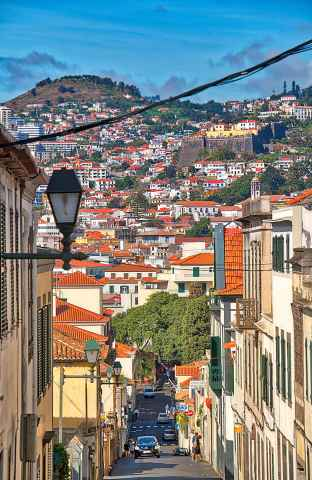 Straße in Funchal, Madeira