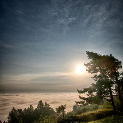 Wolken unter dem Görauer Anger bei Kasendorf