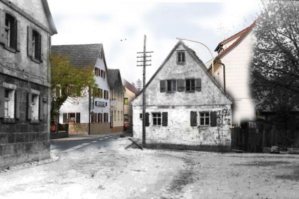 Ortseinfahrt Kasendorf aus Richtung Azendorf