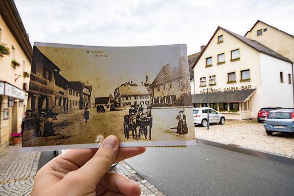 Blick auf den Marktplatz Kasendorf