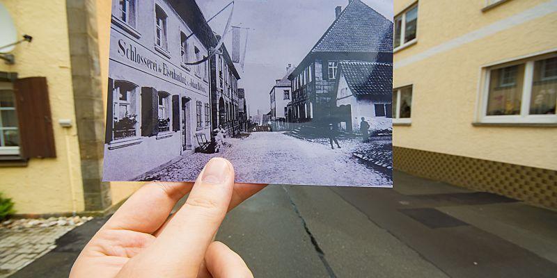 Blick in die Kirchstraße Kasendorf